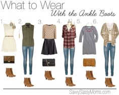 What to wear with the ankle boots.