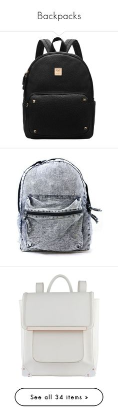"""""""Backpacks"""" by alexandra-provenzano ❤ liked on Polyvore featuring bags, backpacks, day pack backpack, hardware bag, padded bag, handle bag, locking backpack, bolsas, black and shein"""