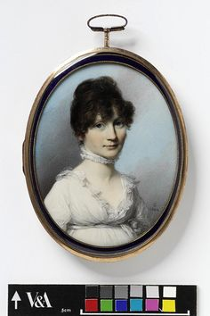 Portrait of an unknown woman    Object:  Miniature    Place of origin:  England, Great Britain (probably, painted)    Date:  ca. 1800 (painted)    Artist/Maker:  Engleheart, George copyright V
