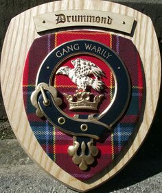 Drummond Genealoy | Scottish Gifts Drummond Family Clan Crest Wall Plaque