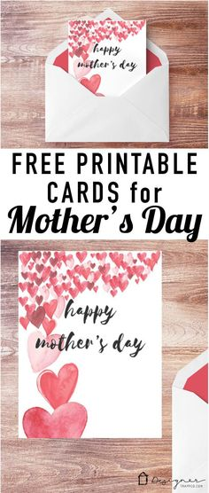 OMG, these free printable Mother's Day cards are perfection. So simple and pretty!