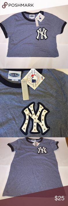 NY Yankees Swarovski T-Shirt Authentic NY Yankees women's t-shirt. Embellished with Swarovski crystals. Size L. NWT. Tops Tees - Short Sleeve