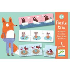 puzzel trio kleine verhaaltjes (8x3st) | ilovespeelgoed.nl 8,95