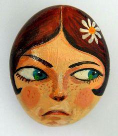 #pebble #stone #stoneart #kavicsfestés #paint #art #handmade #gallery #design #instatalent #instaart #mik #illustration #girl