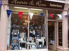 Hearts and Roses Interiors is in Bakewell, Derbyshire. Its a country shop with vintage hearts and roses.