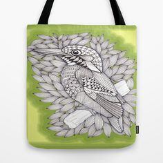 Zentangle Halcyon Tote Bag by Vermont Greetings - $22.00
