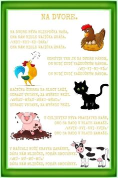 Farm Animals, Animals And Pets, Kids Corner, Kids And Parenting, Fall Decor, Activities For Kids, Fairy Tales, Diy And Crafts, Poems