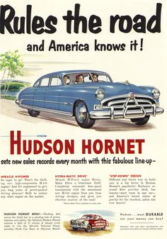 The Hudson Hornet Rules the Road  Source: The New Yorker, June 30, 1951