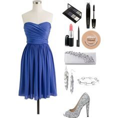 Created by richie-xox #Prom #dress #silver    Created in the Polyvore iPhone app. http://www.polyvore.com/iPhone
