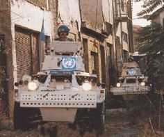 16th / 5th Queen's Royal Lancers in Ferret scout cars operating with the United Nations in Cyprus, 1986: amalgamated with 17th/21st Lancers after the Cold War, they are now part of the Queen's Royal Lancers.