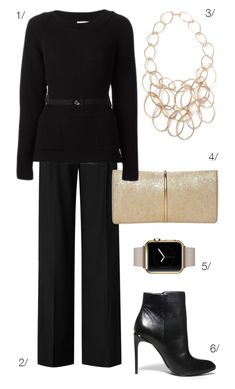 sleek and sophisticated holiday style in black and gold // click for outfit details