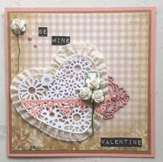 Couture Creations: Be Mine by Amanda Baldwin | #couturecreationsaus #Cards #vintagerosegarden #shabbychic #valentines #florallace #hearts