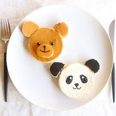 Bear & panda toast by Nayoko (@nayoko054)