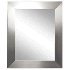 USA Made Rayne Modern Stainless Silver Wall Mirror