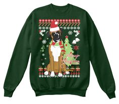 Boxer Ugly Sweater-Style Printed Tee