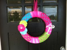 Wreath I made for my front doors