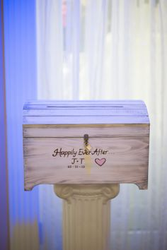disney wedding happily ever after card box and treasure chest