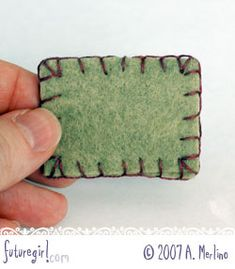 futuregirl craft blog : Tutorial: Hand Sew Felt Using Blanket Stitch