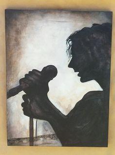 Eddie Vedder painting. Pearl jam. Ed Vedder by FullCircleWorkshop https://www.etsy.com/shop/FullCircleWorkshop