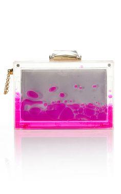 fiona kotur liquid-filled clutch bag