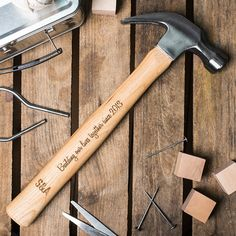 Personalised Wooden Hammer Christmas Gift for Boyfriend Dad Crafts e81150cc09