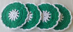 NO MORE DRIPPING! These pretty coasters will do the job...see details at:  Etsy.com/shop/GrammysCustomCrochet
