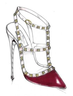 """#Valentino The """"Rockstud"""" shoe was designed by using an element from the style heritage, the studs, with an elegant yet classic shoe shape.  -MARIA GRAZIA CHIURI & PIERPAOLO PICCIOLI"""