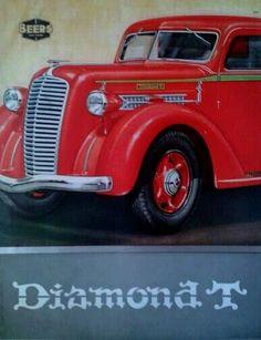 Diamond T brochure 1937 Car Brochure, Cool Trucks, Car Car, Hot Rods, Antique Cars, Classic Cars, Double Trouble, Brochures, Diamond