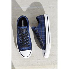 Converse Chuck Taylor All Star Plaid Low Top Sneaker (235 MYR) ❤ liked on Polyvore