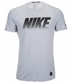 Nike Mens Pro Cool Fitted Short Sleeve Training Gray Black XL Shirt 827450-012 #Underarmour #ShirtsTops
