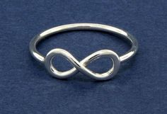 Infinity ring sterling silver ring love friendship jewelry. $30.00, via Etsy.