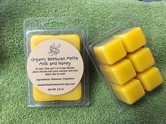 Owlchemy blended beeswax Green Apple for wax warmers Wax Melts