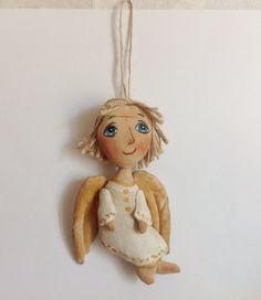 Christmas angel-Doll Angel-Soft Doll-Miniature by NatashaArtDolls