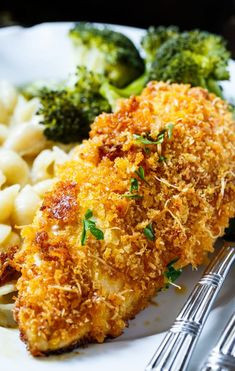 Baked Parmesan Chicken is coated in mayonnaise and then parmesan cheese and Panko crumbs. The most delicious baked chicken!