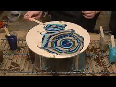 (17) Acrylic pour with my favorite color palette! - YouTube