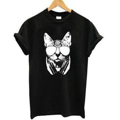 Excited to share the latest addition to my #etsy shop: DJ Cat T-Shirt http://etsy.me/2ivKfnV #clothing #women #tshirt #blacktshirt #cattheme #topteetshirt #trendy #stylishtshirt #djcat
