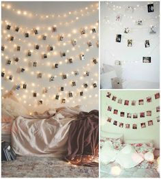 Nice 49 Elegant Indoor Decor Ideas With Christmas Lights. : Nice 49 Elegant Indoor Decor Ideas With Christmas Lights. Bedroom Wall, Girls Bedroom, Bedroom Decor, Trendy Bedroom, Bedroom Ideas, Bedroom Lighting, Bedroom Storage, Love Is Scary, Picture Wall