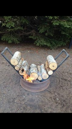 Self feeding fire pit!