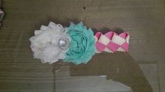 Woven headband with shabbyflowers