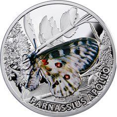 Niue 2010 1$ Apollo Butterflies Proof Silver Coin :: Top World Coins