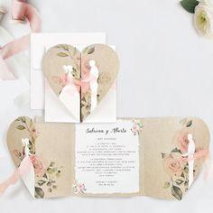 Invitatie de nunta inima maronie - Memoires.ro Carton Invitation, Place Cards, Wedding Invitations, Place Card Holders, Bride, Google, Model, Aesthetic Art, Inexpensive Wedding Invitations