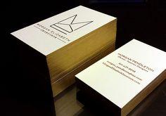 Letterpress business cards, Gold foil, Gold edge, 600gsm cotton paper, www.finoprint.com