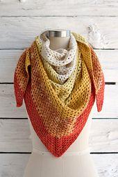 Ravelry: Augusta Shawl free crochet pattern by Andrea Mules