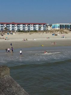 Tybee Island Ocean Plaza on the right