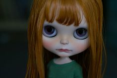 "This girl is looking for a home.    Her base doll was a new ""Ashleys Secret"" Neo Blythe doll (RBL+ facemold). Her hairs are from ""Dear Lele"