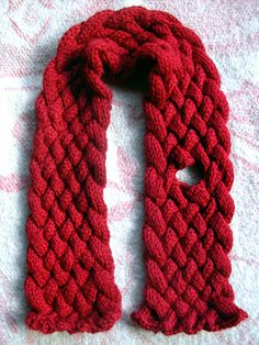 Toddle by Molly Bell.  A quick cable knit keyhole scarf.