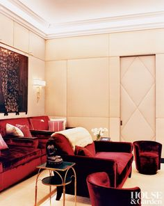 Traditional Media/Game Room by Robert Couturier and Robert Couturier in New York, New York