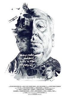 Ilustraciones retrato de directores de cine a través de sus películas