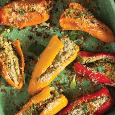 Goat-Cheese-Stuffed Sweet Peppers
