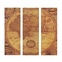 Let your travels inspire your style with a Antique World Map Canvas Art Print Set! Featuring an old world map design, this set gives your home a new perspective. Antique World Map, Old World Maps, Vintage World Maps, Canvas Art Prints, Canvas Wall Art, World Map Design, World Map Canvas, Rock Decor, Map Wall Art